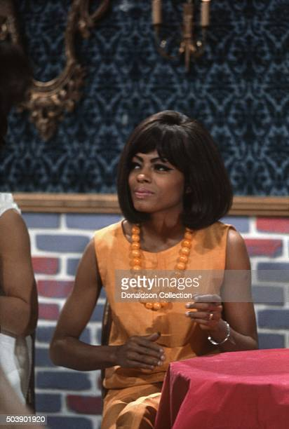 Singer Diana Ross of the R and B Group 'The Supremes' during rehearsal for their performance on the TV show Hullabaloo on May 11 1965 in New York...