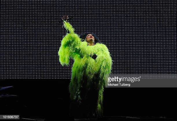 Singer Diana Ross performs at the Nokia Theatre at LA Live on June 9 2010 in Los Angeles California