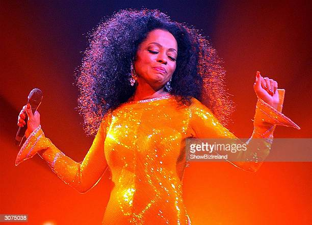 Singer Diana Ross performs at The Point Theatre March 10 2004 in Dublin Ireland
