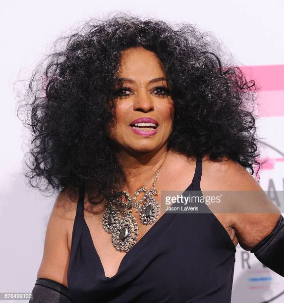 Singer Diana Ross poses in the press room at the 2017 American Music Awards at Microsoft Theater on November 19 2017 in Los Angeles California