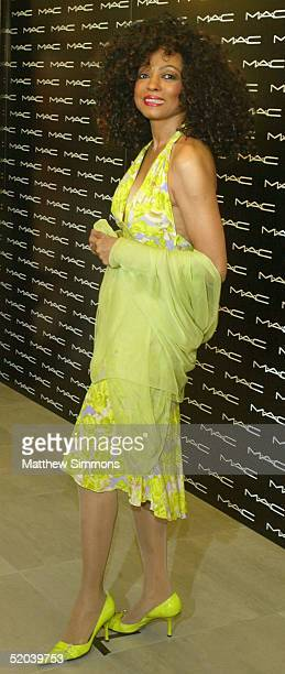 """Singer Diana Ross stands for photos at the launch of her new """"MAC Beauty Icon Series 2 Collection"""" at the MAC Cosmetics store on January 20, 2005 in..."""