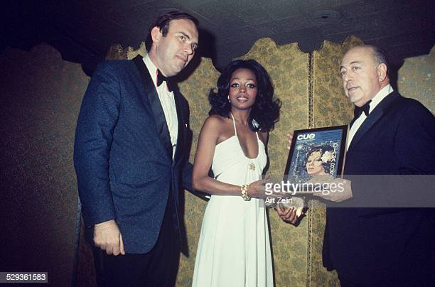 Singer Diana Ross was presented the Entertainer of the Year award by Cue Magazine Jan 12 1973