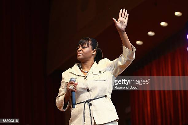Singer Diane Barrino performs at the Pritzker Pavilion in Chicago Illinois on JUNE 07 2009