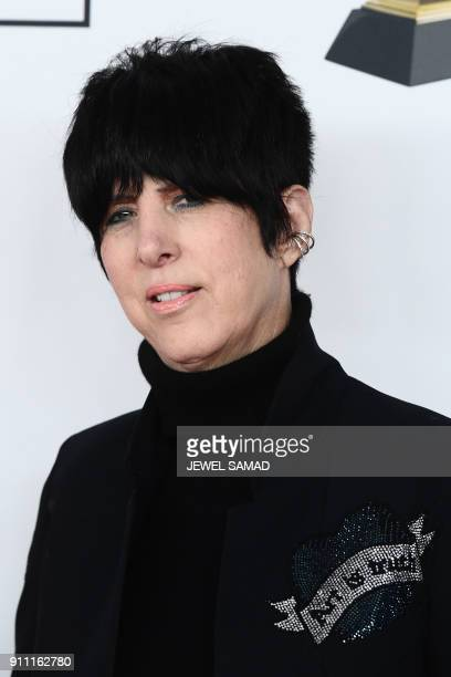 Singer Diane Warren arrives for the traditionnal Clive Davis party on the eve of the 60th Annual Grammy Awards on January 28 in New York / AFP PHOTO...