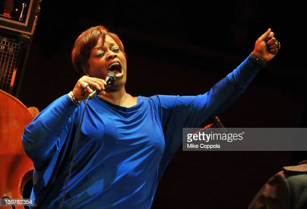 Singer Dianne Reeves performs at Rose Theater Jazz at Lincoln Center on February 24 2012 in New York City