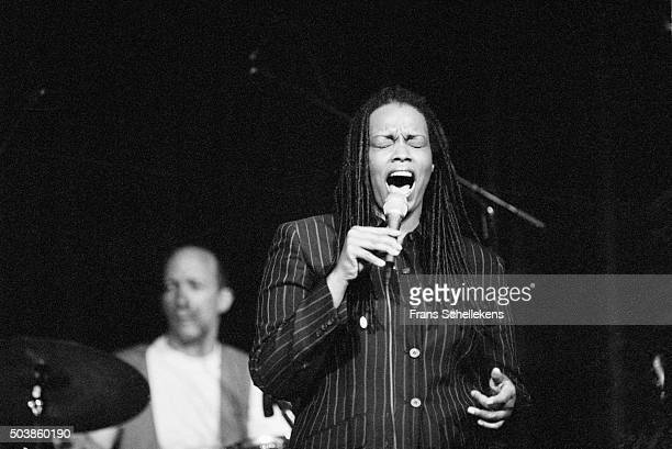 Singer Dianne Reeves performs on July 12th 1996 at the North Sea Jazz Festival in the Hague, the Netherlands.