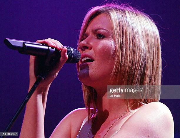 Singer Dido performs on stage during the first of three London gigs at the Carling Academy Brixton on August 17 2004 in London England The concerts...