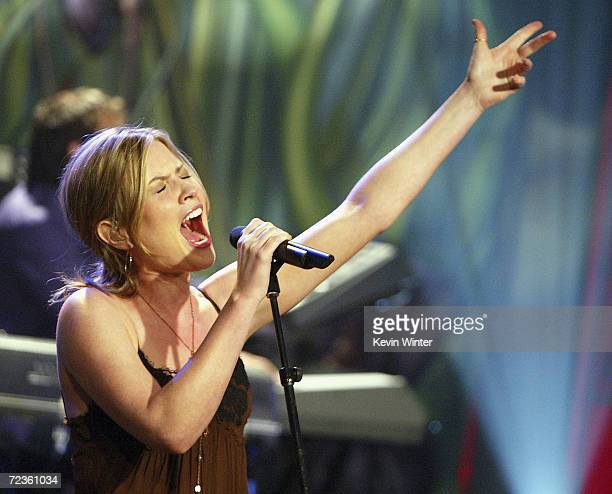 Singer Dido performs on The Tonight Show with Jay Leno at the NBC Studios on May 27 2004 in Burbank California