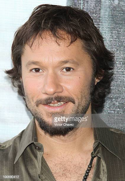 Singer Diego Torres poses to photographers during the promotion of his new album Distinto at the W Hotel Mexico City on May 25 2010 in Mexico City...