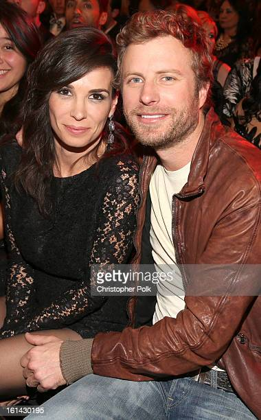 Singer Dierks Bentley and Cassidy Black attend the 55th Annual GRAMMY Awards at Staples Center on February 10 2013 in Los Angeles California
