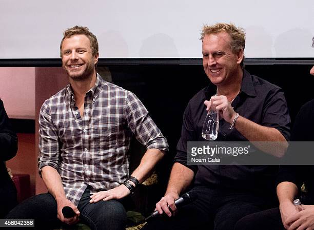 Singer Dierks Bentley and Live Nation Country president Brian OConnell attend the Live Nation And Founder's Entertainment Press Conference With...