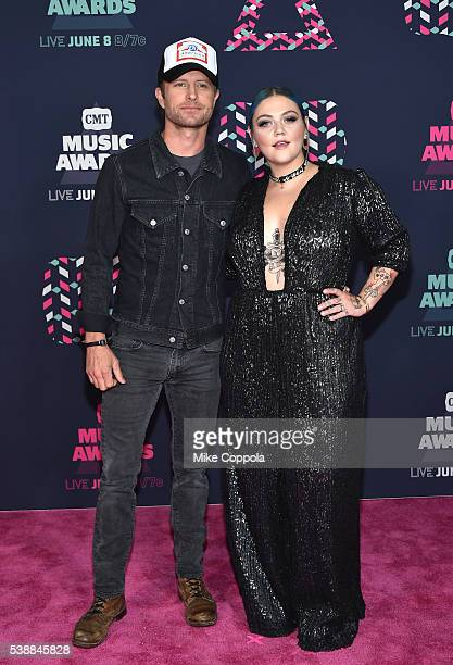 Singer Dierks Bentley and singersongwriter Elle King attends the 2016 CMT Music awards at the Bridgestone Arena on June 8 2016 in Nashville Tennessee
