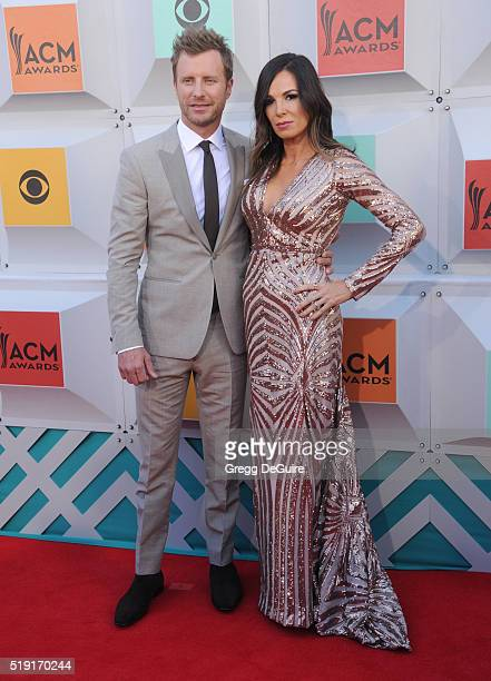 Singer Dierks Bentley and wife Cassidy Black arrive at the 51st Academy Of Country Music Awards at MGM Grand Garden Arena on April 3 2016 in Las...