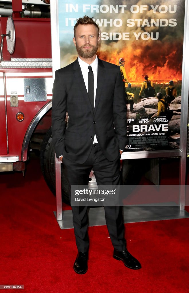 Singer Dierks Bentley attends the premiere of Columbia Pictures' 'Only the Brave' at Regency Village Theatre on October 8, 2017 in Westwood, California.