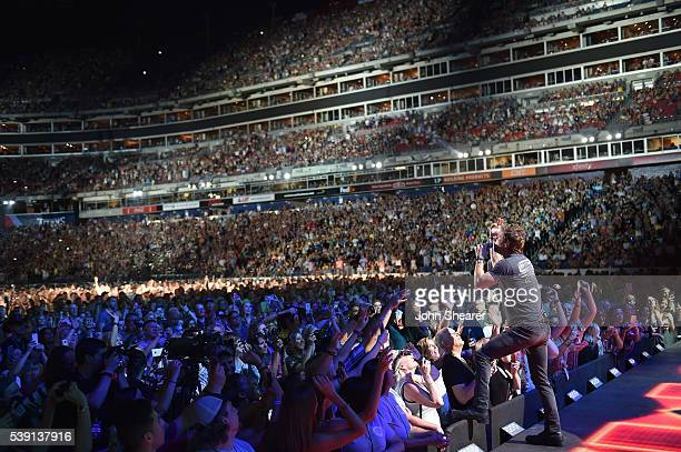 Singer Dierks Bentley performs onstage during 2016 CMA Festival - Day 1 at Nissan Stadium on June 9, 2016 in Nashville, Tennessee.