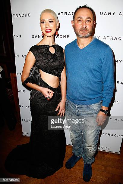 Singer Diese and Designer Dany Atrache attend the Dany Atrache Spring Summer 2016 show as part of Paris Fashion Week on January 25 2016 in Paris...