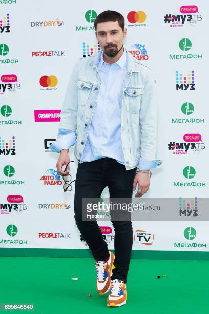 Singer Dima Bilan aheads of the 2017 MuzTV Music Awards ceremony at Olimpiyskiy Stadium on June 9 2017 in Moscow Russia