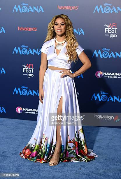 Singer Dinah Jane Hansen arrives at the AFI FEST 2016 Presented By Audi premiere of Disney's 'Moana' at the El Capitan Theatre on November 14 2016 in...