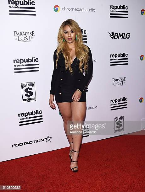 Singer Dinah Jane Hansen arrives at the Republic Records Private GRAMMY Celebration at HYDE Sunset Kitchen Cocktails on February 15 2016 in West...