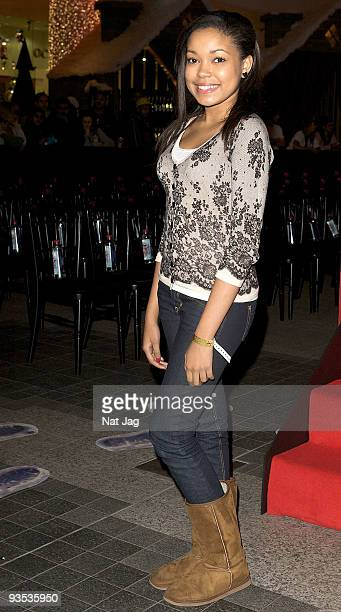 Singer Dionne Bromfield attends the opening of the new Ed Hardy store at Westfield on December 1, 2009 in London, England.