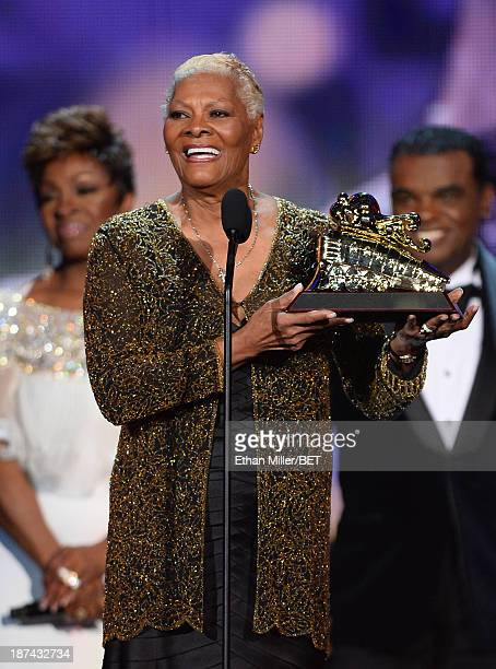 Singer Dionne Warwick accepts the Legend Award onstage at the Soul Train Awards 2013 at the Orleans Arena on November 8 2013 in Las Vegas Nevada