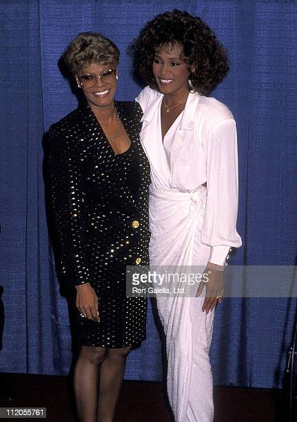 Singer Dionne Warwick and singer Whitney Houston attend the United Negro College Fund's 46th Annual Awards Dinner/Frederick D. Patterson Award to...
