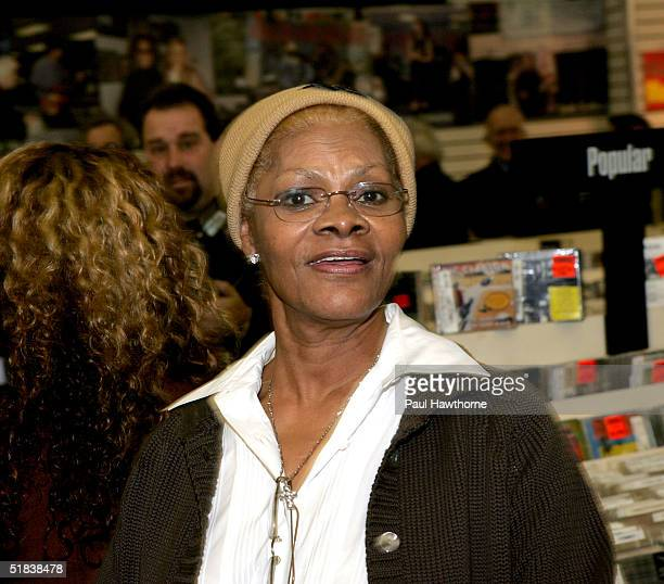 Singer Dionne Warwick arrives to perform songs from her first ever holiday CD My Favorite Time of the Year before signing copies of the Christmas...