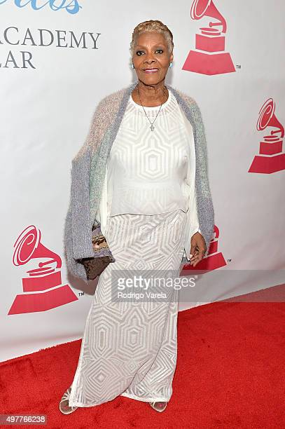 Singer Dionne Warwick attends the 2015 Latin GRAMMY Person of the Year honoring Roberto Carlos at the Mandalay Bay Events Center on November 18 2015...