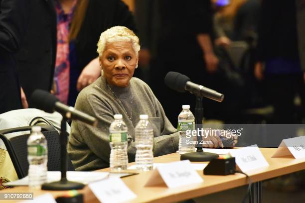 Singer Dionne Warwick attends The 60th Annual GRAMMY Awards House Judiciary Hearing at Fordham Law School on January 26 2018 in New York City