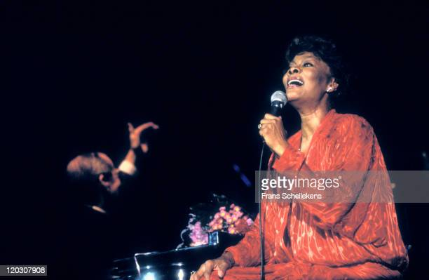 Singer Dionne Warwick performing live on stage at the Rai in Amsterdam, Netherlands on 3rd July 1993.