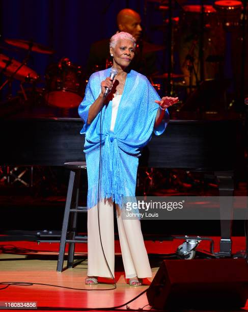Singer Dionne Warwick performs accompanied by a live symphony orchestra at Adrienne Arsht CenterKnight Concert Hall on Saturday July 6 2019 in Miami...