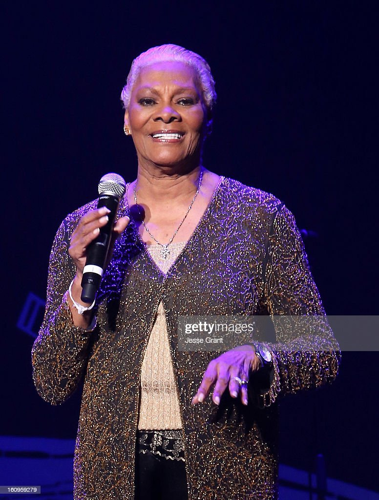 Singer Dionne Warwick performs during The 55th Annual GRAMMY Awards - Music Preservation Project 'Play It Forward' Celebration highlighting The GRAMMY Foundations ongoing work to safegaurd music's history at the Saban Theatre on February 7, 2013 in Los Angeles, California.
