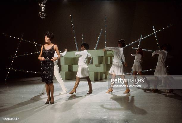 Singer Dionne Warwick performs on the NBC TV music show 'Hullabaloo' in April 1965 in New York City New York