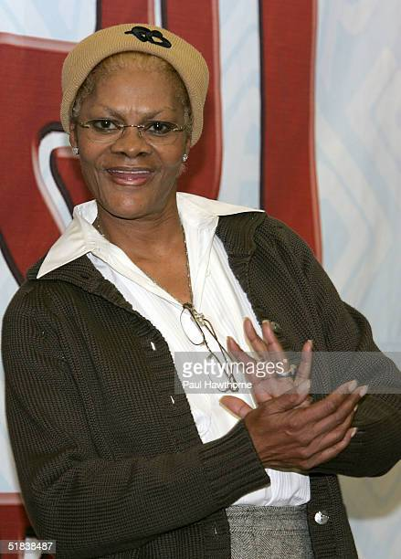 Singer Dionne Warwick performs songs from her first ever holiday CD My Favorite Time of the Year before signing copies of the Christmas album at JR...