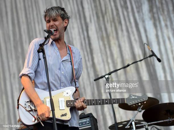 Singer Dirk von Lowtzow of the German band Tocotronic performs at the music festival Lollapalooza in Berlin Germany 10 September 2016 PHOTO BRITTA...