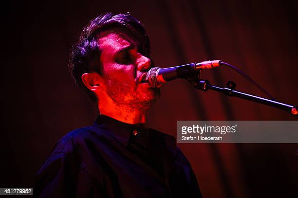 Singer Dirk von Lowtzow of Tocotronic performs live on stage during day 2 of Melt! Festival on July 18, 2015 in Graefenhainichen, Germany.