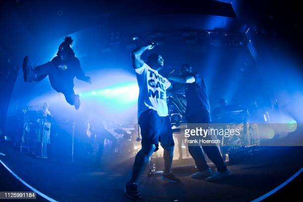 Singer DJ Locksmith of the British band Rudimental performs live on stage during a concert at the Astra on January 28 2019 in Berlin Germany