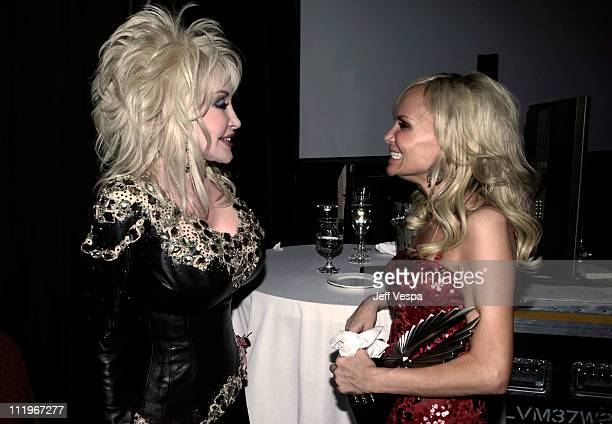 Singer Dolly Parton and actress Kristin Chenoweth attend the 22nd Annual GLAAD Media Awards presented by ROKK Vodka at Los Angeles' Westin...