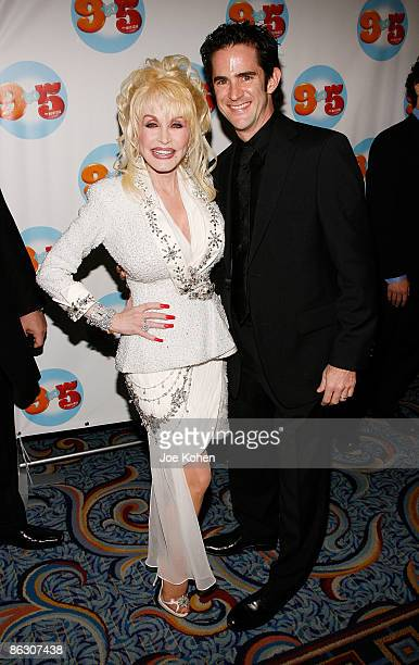 Singer Dolly Parton and Choreographer Andy Blankenbuehler attend the opening of 9 to 5 The Musical on Broadway at the Marriott Marquis Theatre on...