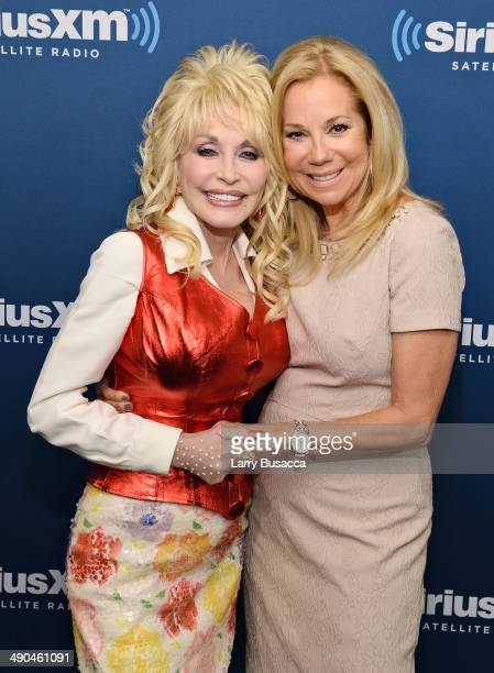 Singer Dolly Parton and Kathie Lee Gifford at SiriusXM Town Hall with Dolly Parton at the SiriusXM Studios on May 14, 2014 in New York City.