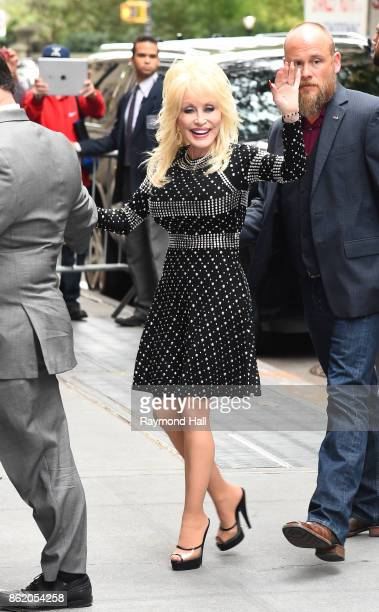 Singer Dolly Parton is seen walking in Midtown on October 16 2017 in New York City