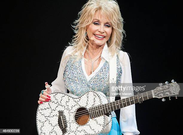 Singer Dolly Parton Performs at Agua Caliente Casino on January 24 2014 in Rancho Mirage California