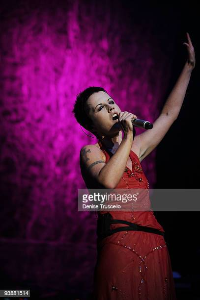 Singer Dolores O'Riordan of the Cranberries performs at the Pearl Theatre at the Palms Hotel and Casino on December 3, 2009 in Las Vegas, Nevada.
