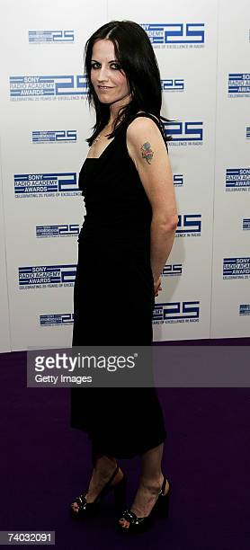 Singer Dolores O'Riordan poses in the awards room at the Sony Radio Academy Awards 2007 at Grosvenor House Hotel on April 30, 2007 in London,...