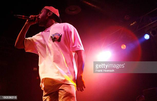 Singer Domo Genesis of the band Odd Future performs live during a concert at the Huxleys on August 20 2012 in Berlin Germany