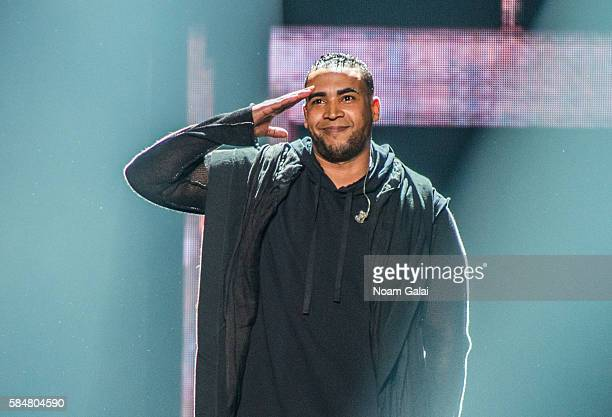 Singer Don Omar performs during The Kingdom Daddy Yankee Vs Don Omar Tour at Madison Square Garden on July 30 2016 in New York City