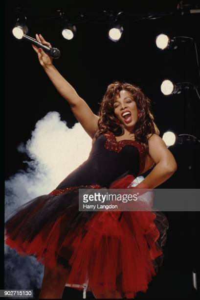 Singer Donna Summer poses for a photo cover session on November 12 2003 in Los Angeles California