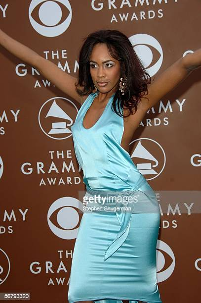 Singer Donni Rai arrives at the 48th Annual Grammy Awards at the Staples Center on February 8 2006 in Los Angeles California