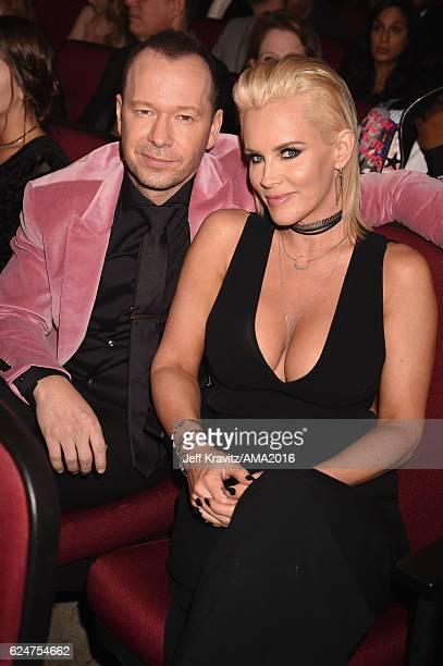 Singer Donnie Wahlberg and actress Jenny McCarthy attend the 2016 American Music Awards at Microsoft Theater on November 20, 2016 in Los Angeles,...