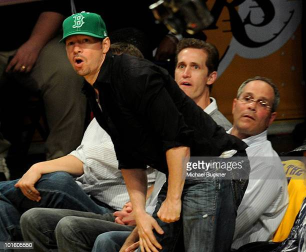 Singer Donnie Wahlberg attends Game 1 of the NBA Finals between the Los Angeles Lakers and the Boston Celtics at Staples Center on June 3 2010 in Los...